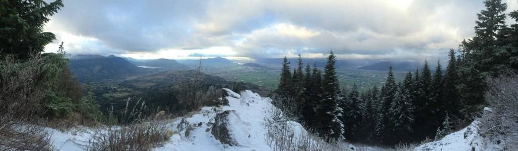 First lookout on Elk Mountain Nov 11 2015 with a bit of snow on it